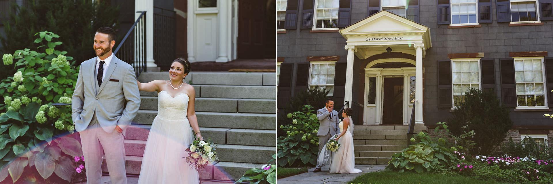 surprised groom at first look