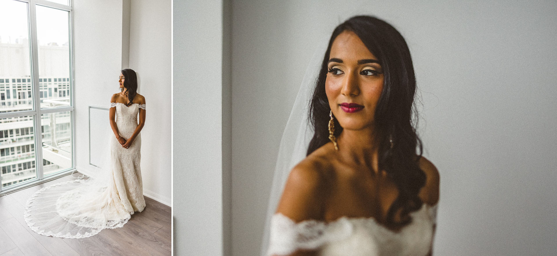 beautiful portraits of bride before ceremony