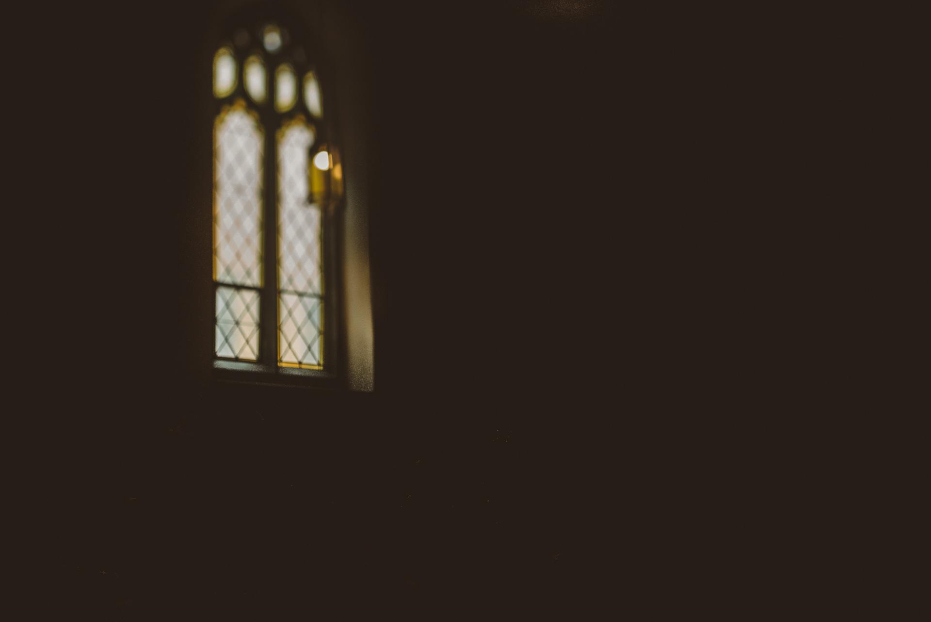 tilt shift of church window