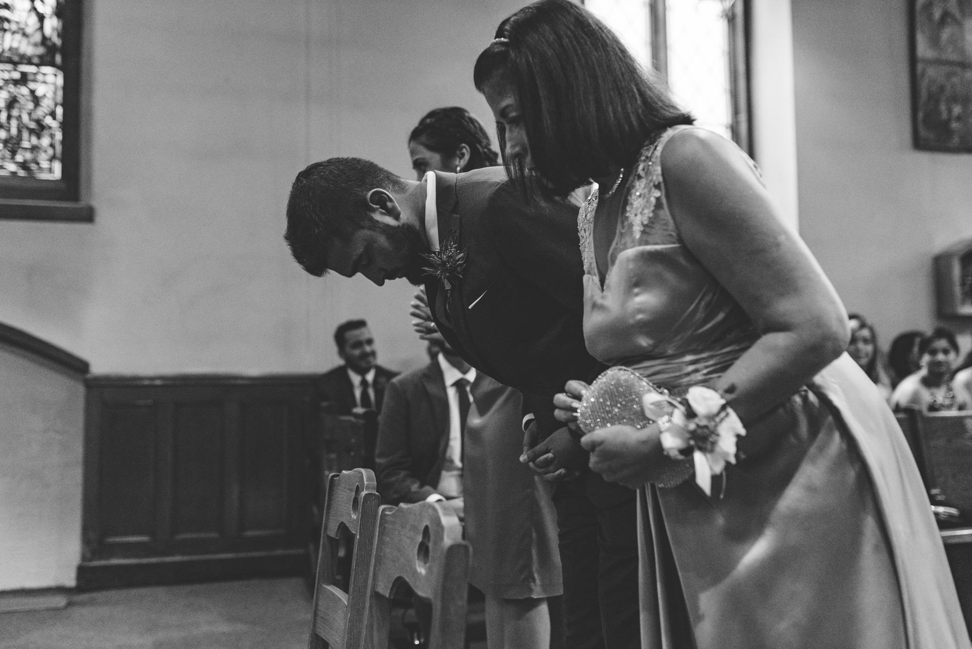 st. aquinas toronto wedding church praying