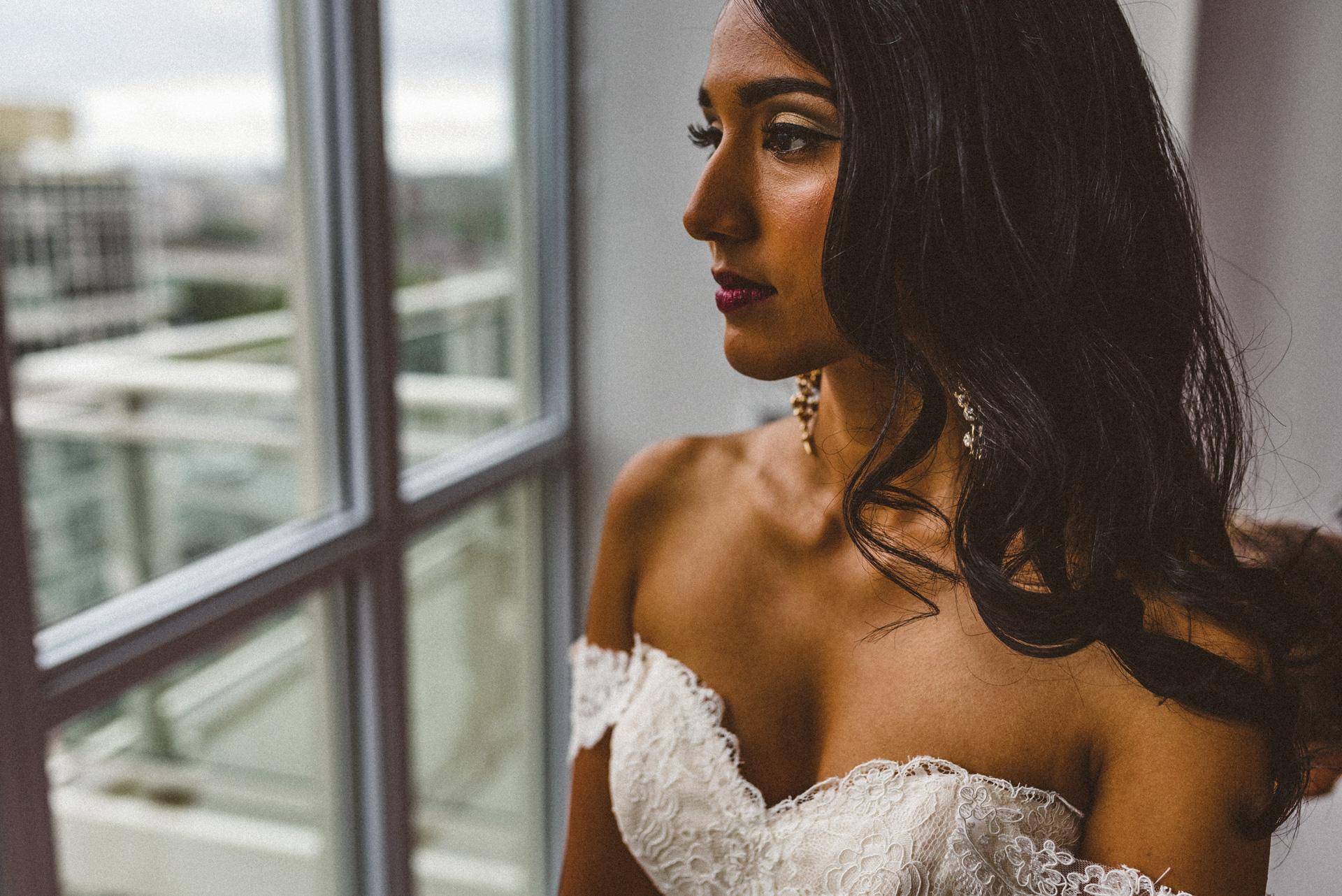 stunning bridal portrait toronto wedding