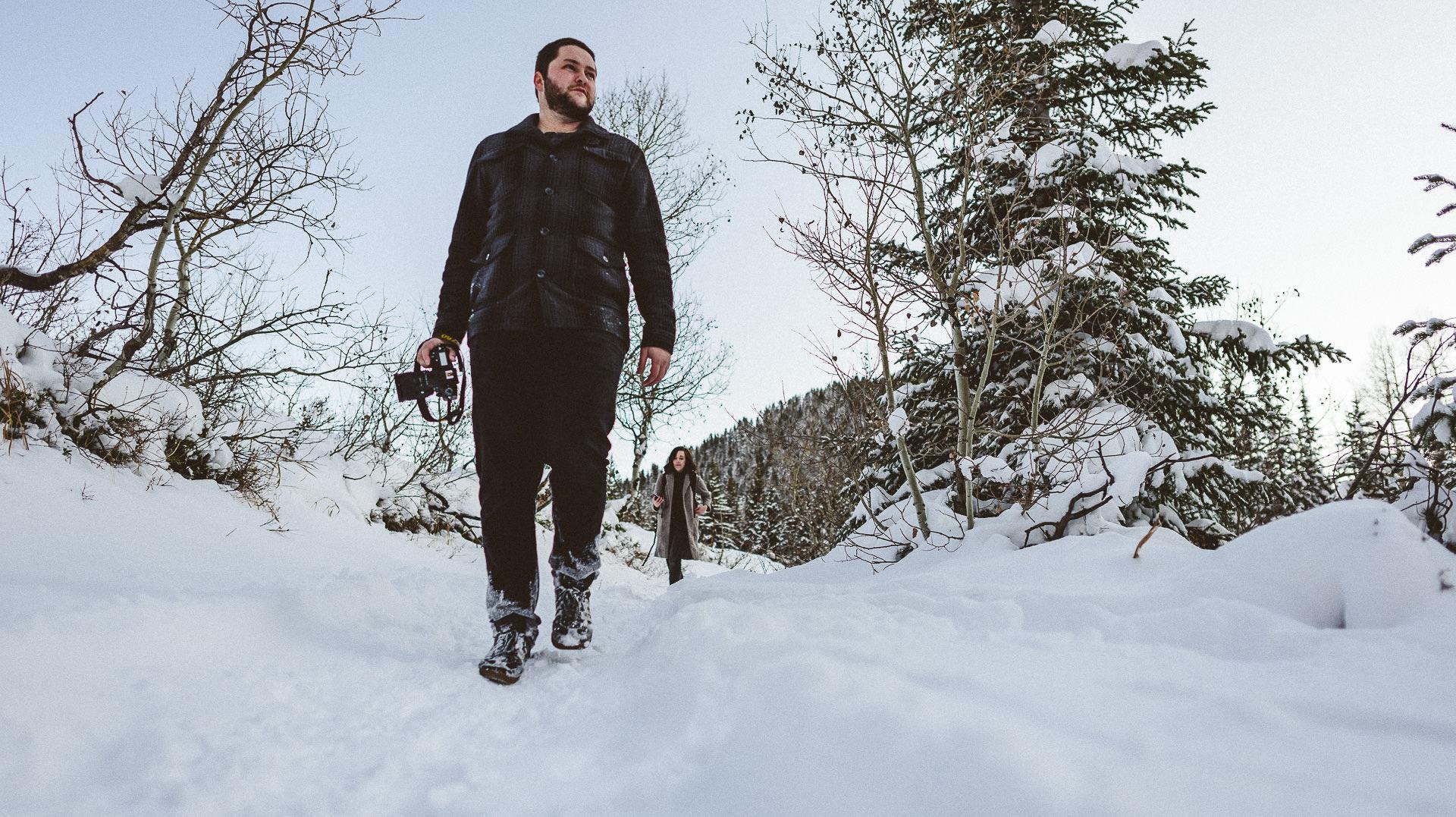 guy walking with camera in salt lake city