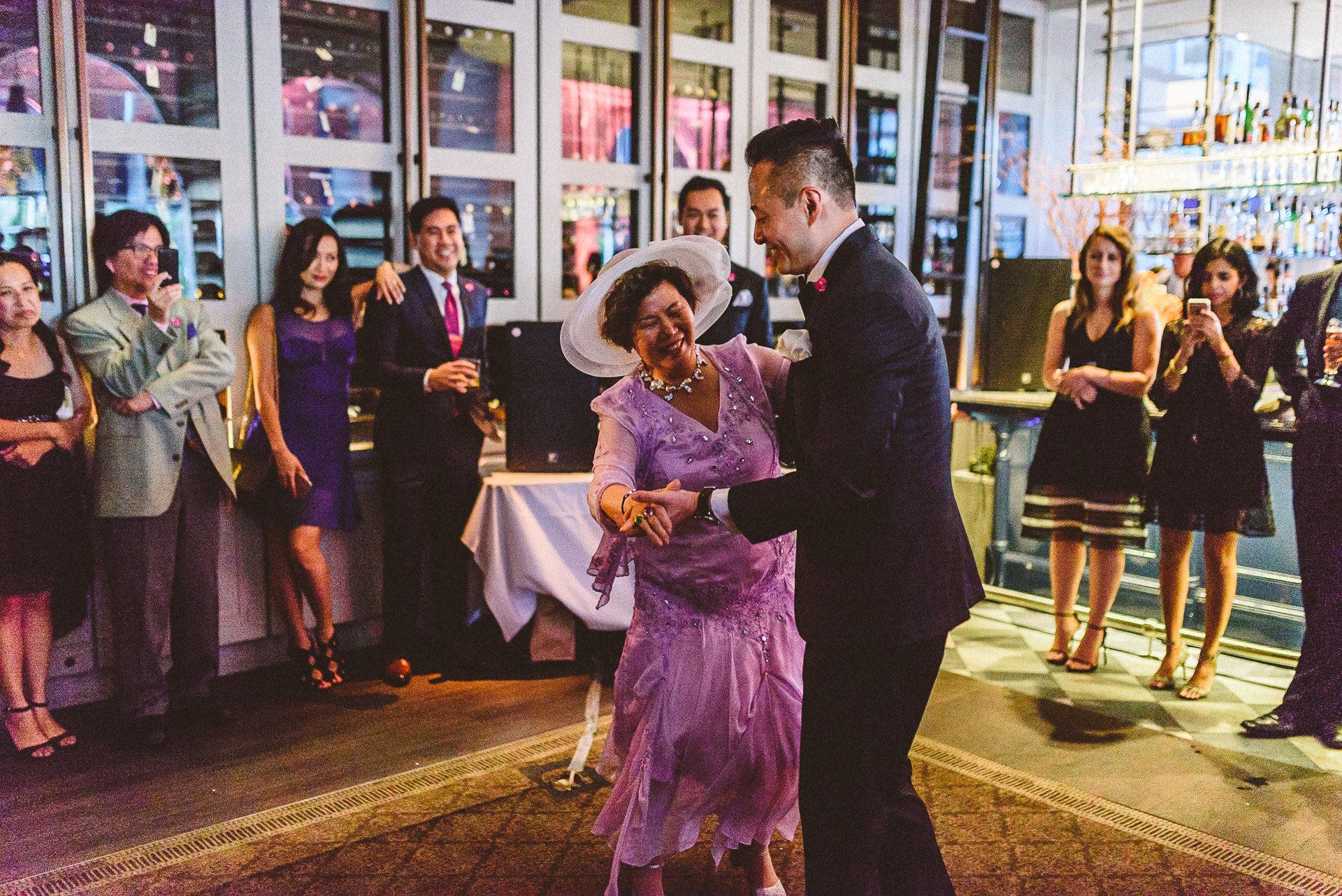 Mother groom dance at Colette Restaurant