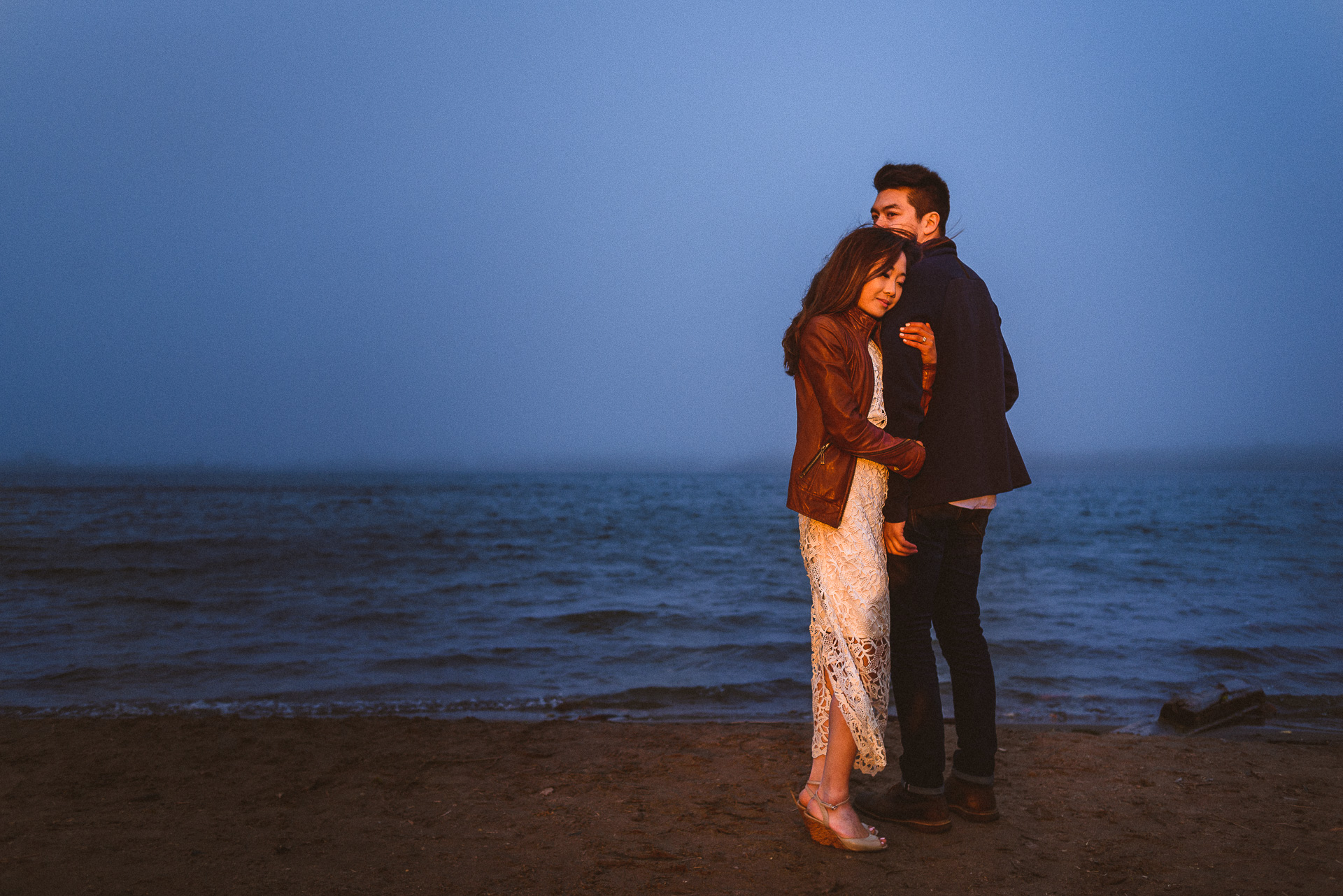 Cherry Beach Toronto Engagement Session