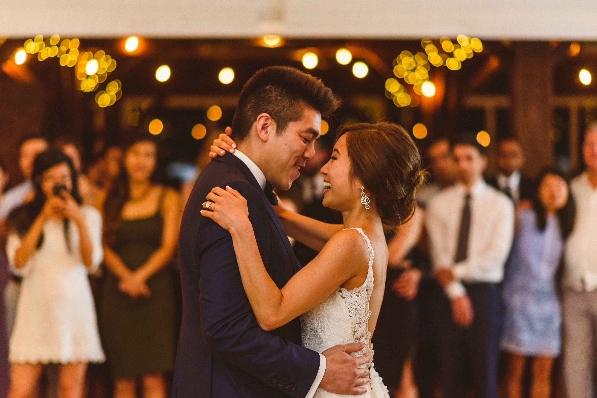 Bride and Groom First Dance at Pheasent Run Golf Course Wedding