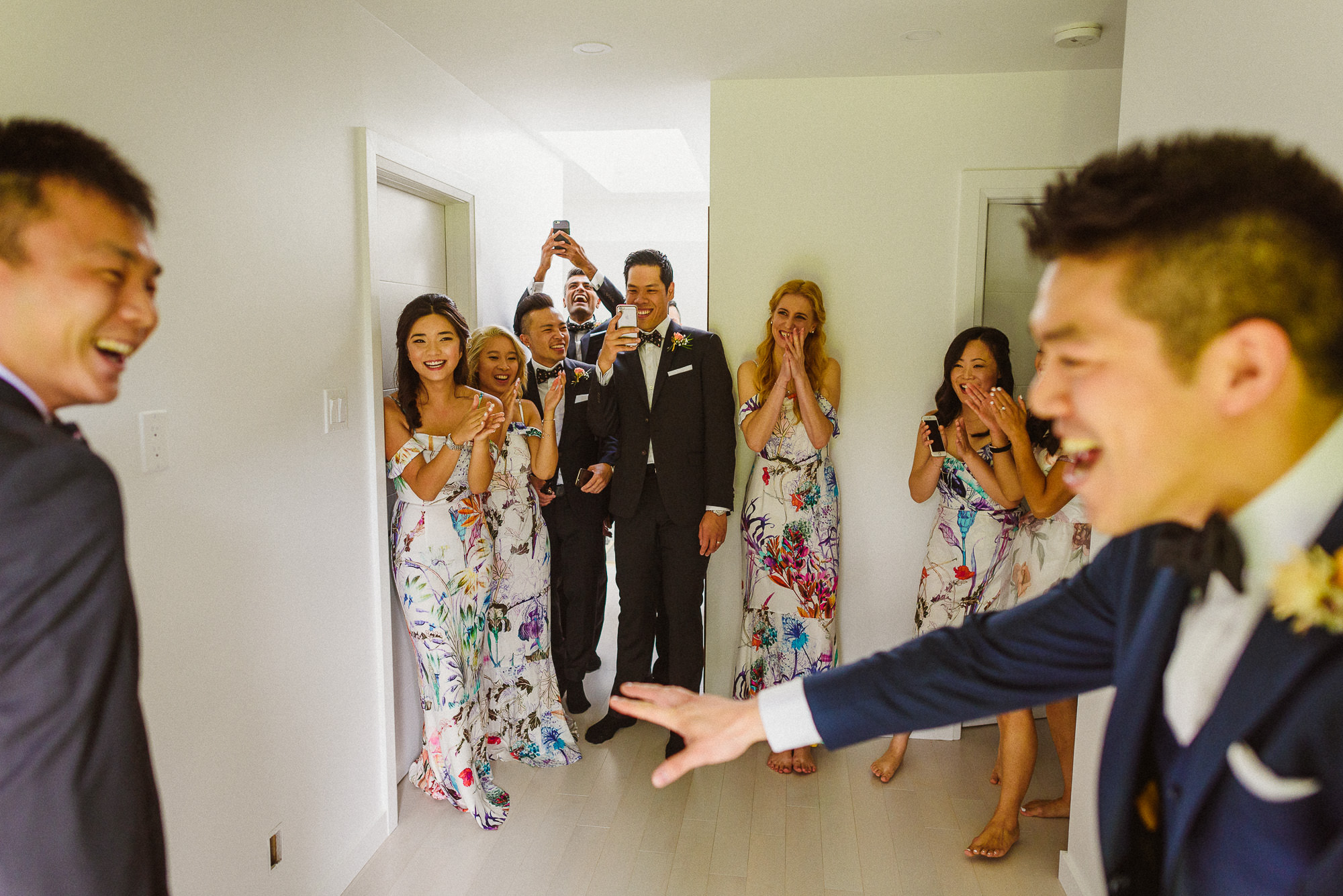 groom celebrating Pheasent Run Golf Course Wedding