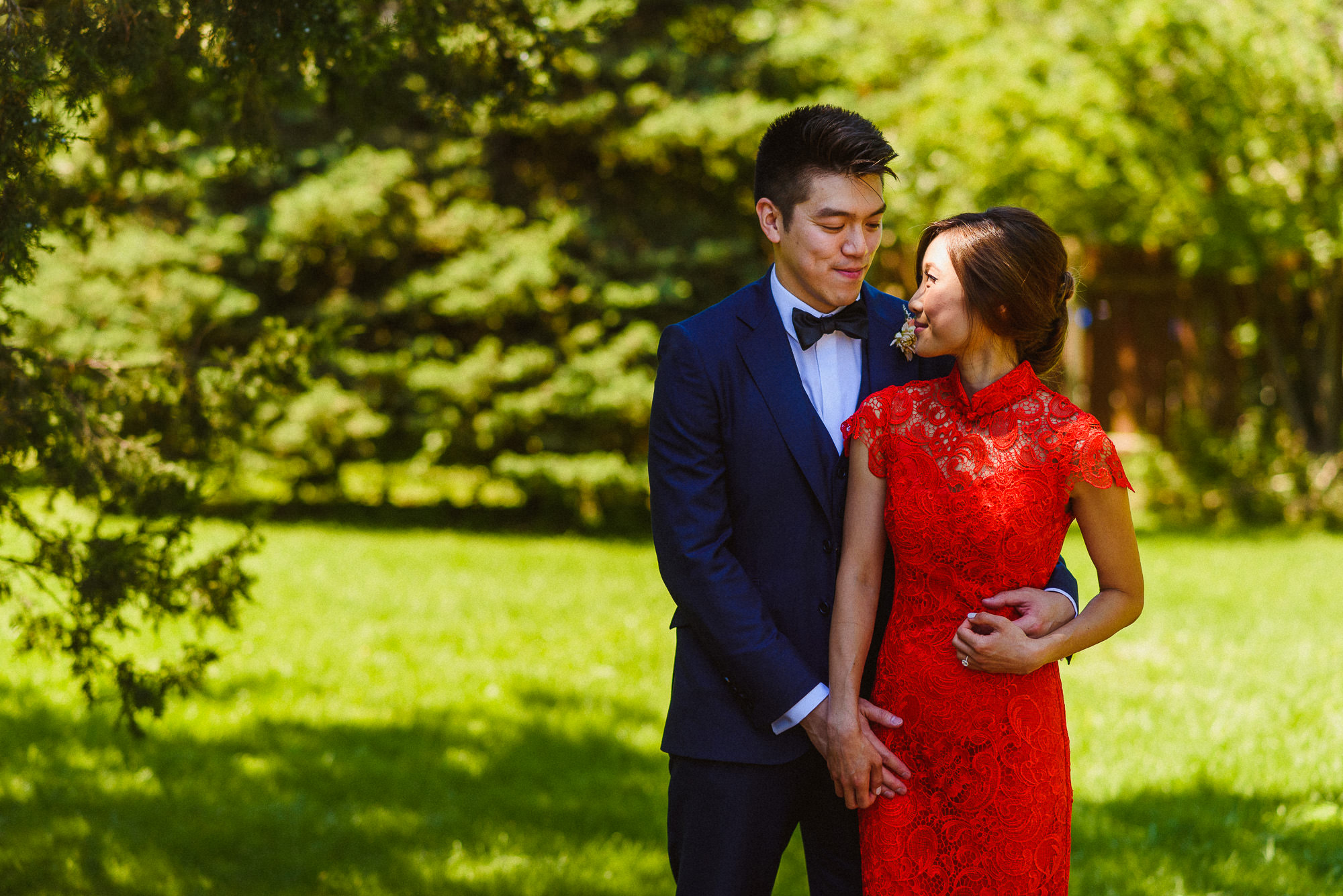 portraits of bride and groom at Pheasent Run Golf Course Wedding