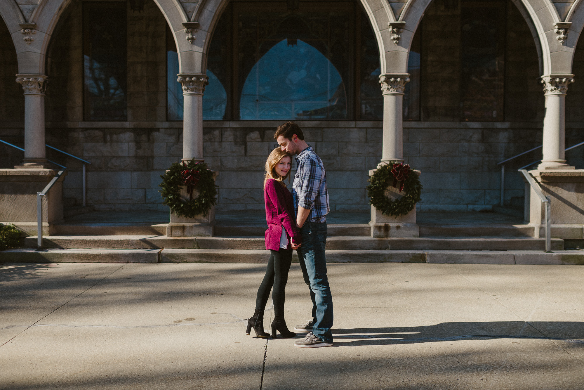 beautiful photograph of couple in asheville couples session