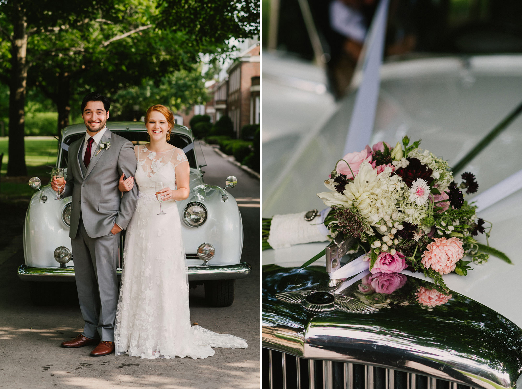 portraits of bride and groom from Wedding at Saint Andrew's College