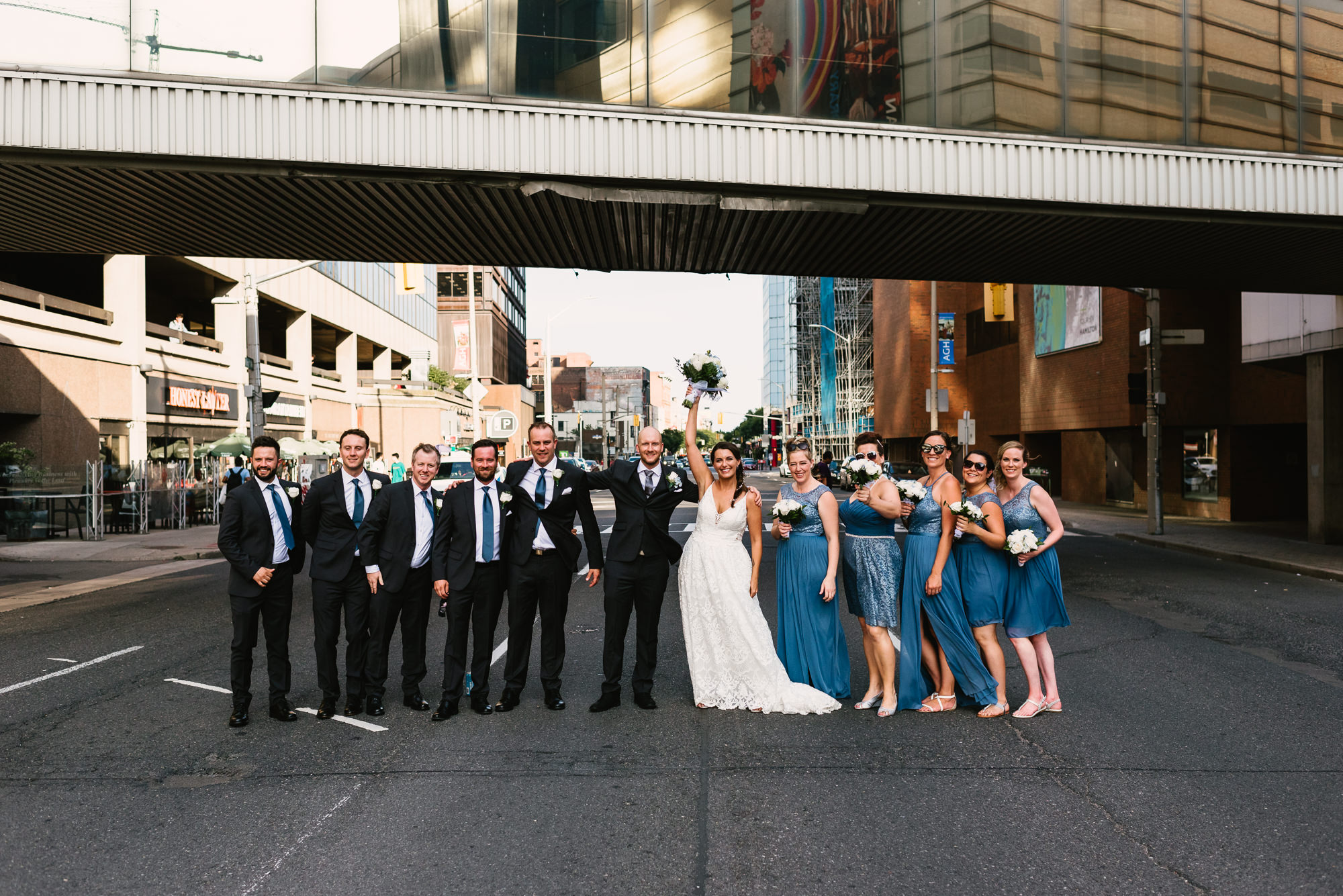 Energetic and Romantic Hamilton Art Gallery Wedding 75